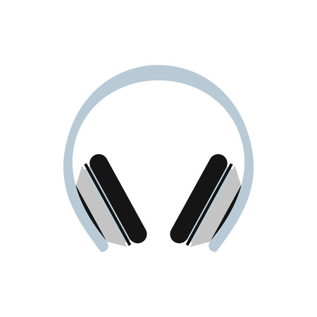 plug hat: Protective headphones icon in flat style on a white background