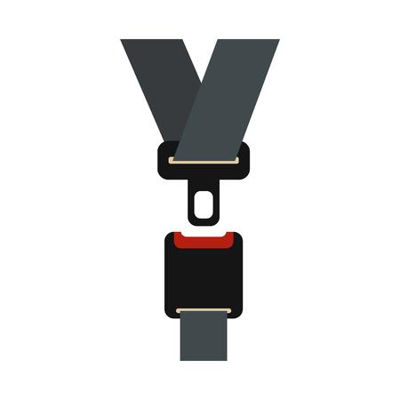 Icône de la ceinture de sécurité dans un style à plat sur un fond blanc Banque d'images - 61022692