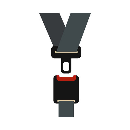Safety belt icon in flat style on a white background Vectores
