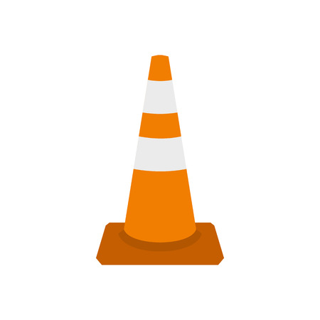 marking: Traffic cone icon in flat style on a white background
