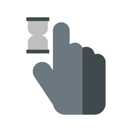 anticipation: Cursor hand in anticipation icon in flat style isolated on white background. Computer and internet symbol Illustration