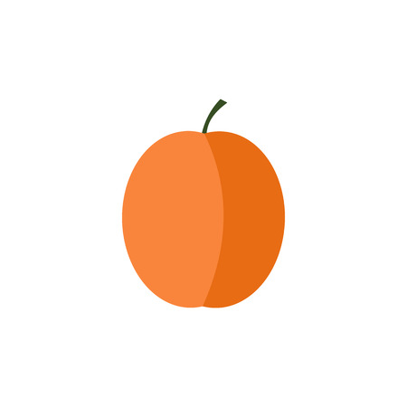 Apricot icon in flat style on a white background