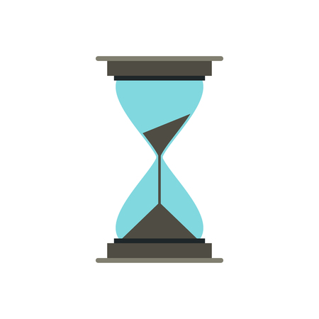 Hourglass icon in flat style on a white background Illustration
