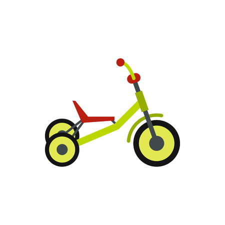 tricycle: Tricycle icon in flat style isolated on white background. Sport symbol