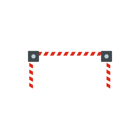 obstacle: Car barrier icon in flat style isolated on white background. Obstacle symbol