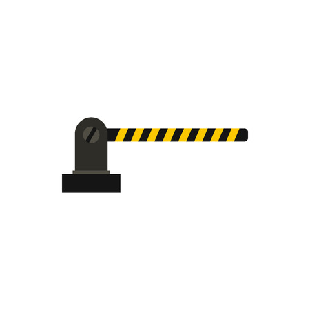 obstacle: Gate in parking lot icon in flat style isolated on white background. Obstacle symbol