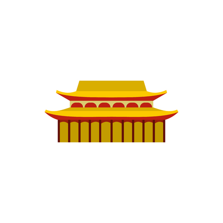 Buddha Toothe Relic Temple in Singapore icon in flat style on a white background