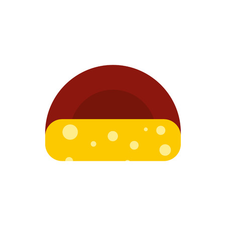 hard crust: Cheese icon in flat style on a white background Illustration