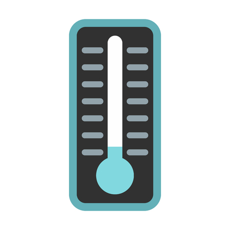 extremely: Thermometer indicates extremely low temperature icon in flat style on a white background