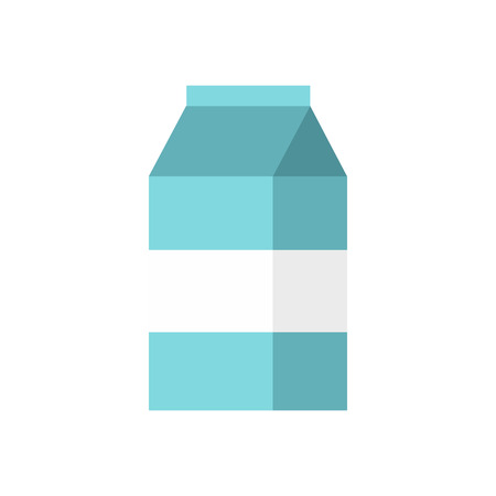 gable: Box of milk icon in flat style on a white background Illustration
