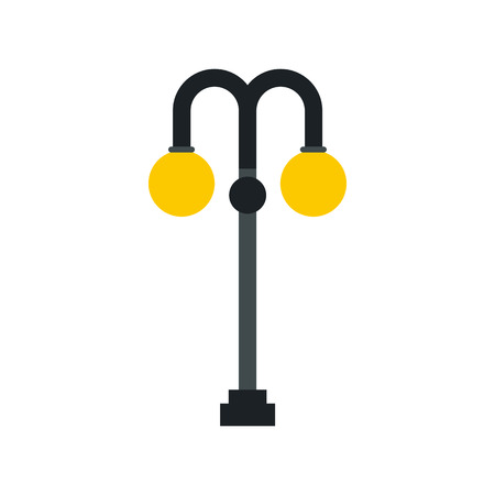 Light pole icon in flat style on a white background