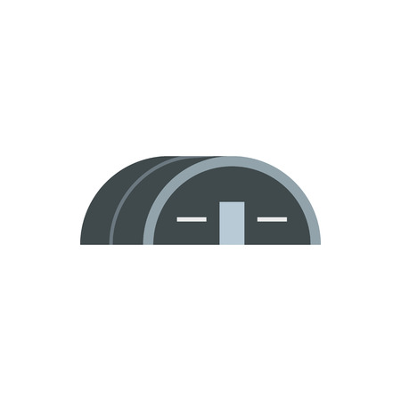hangar: Large hangar icon in flat style isolated on white background. Building symbol Illustration
