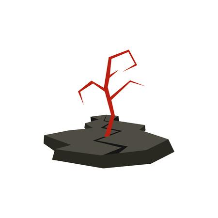 Earthquake icon in flat style isolated on white background. Danger symbol Illustration