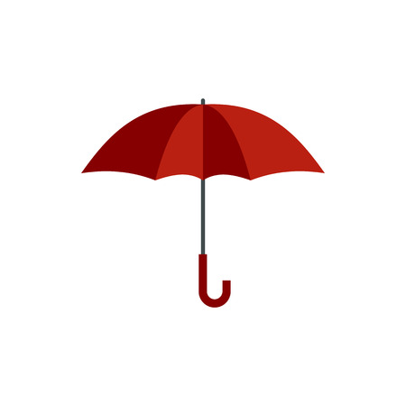 Umbrella icon in flat style isolated on white background. Accessory symbol