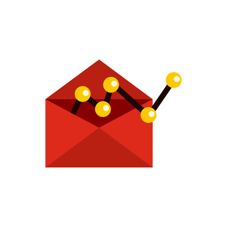 configuration: E-mail configuration icon in flat style isolated on white background. Message symbol Illustration