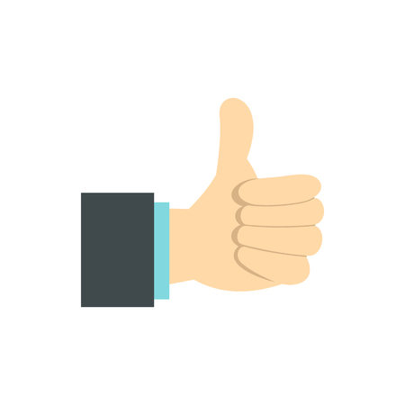 approval icon: Gesture approval icon in flat style isolated on white background. Gestural symbol Illustration
