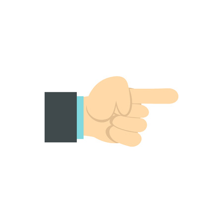 gestural: Gesture with index finger icon in flat style isolated on white background. Gestural symbol