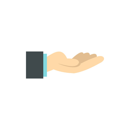 gestural: Gesture of charity icon in flat style isolated on white background. Gestural symbol