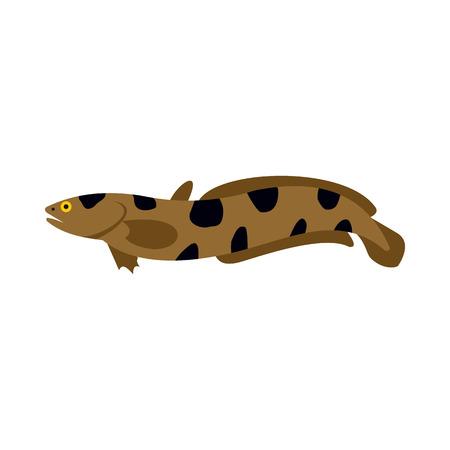 Schlangenkopf-Symbol im flachen Stil auf weißem Hintergrund. Seegeschöpfe Symbol Standard-Bild - 61229390