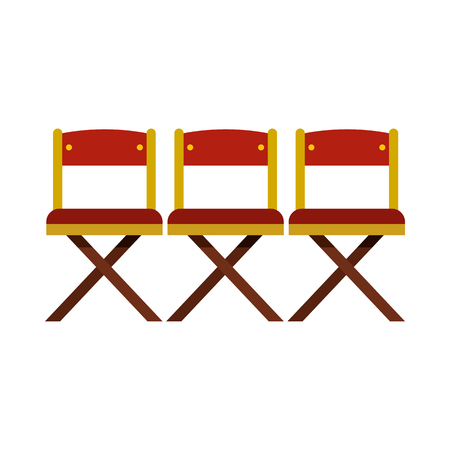 seats: Cinema seats icon in flat style on a white background Illustration