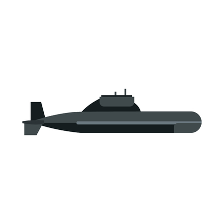 periscope: Submarine icon in flat style on a white background Illustration
