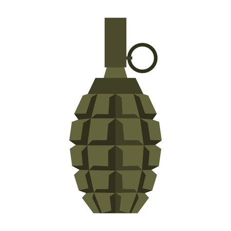 frag: Hand grenade icon in flat style on a white background