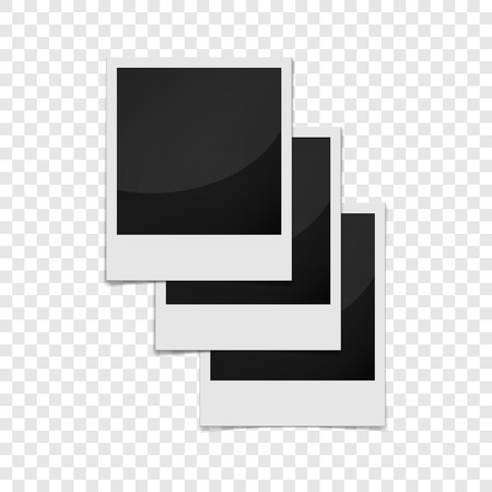 feature films: Realistic photo frame icon. Universal photo frames icon to use for web and mobile UI vector illustration