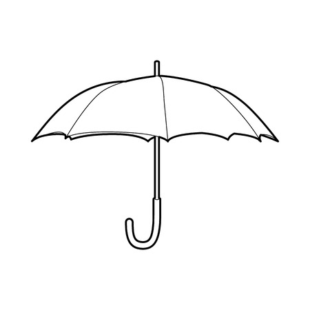 Protection umbrella icon in outline style on a white background