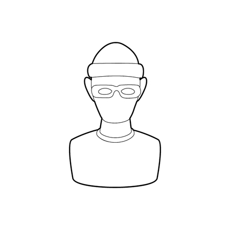 Theft icon in outline style on a white background