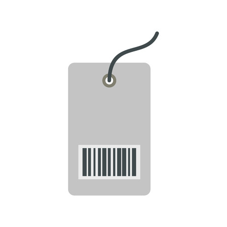 ean: Price tag icon in flat style isolated on white background Illustration
