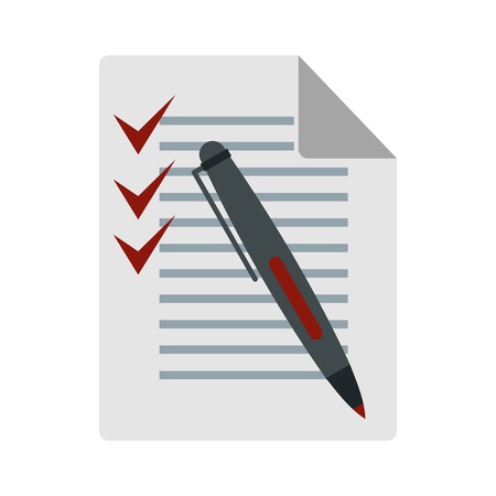 To do list icon in flat style isolated on white background