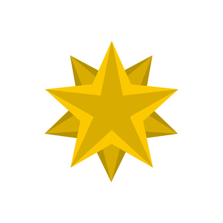 Flat golden star icon. Universal golden star icon to use for web and mobile UI isolated vector illustration