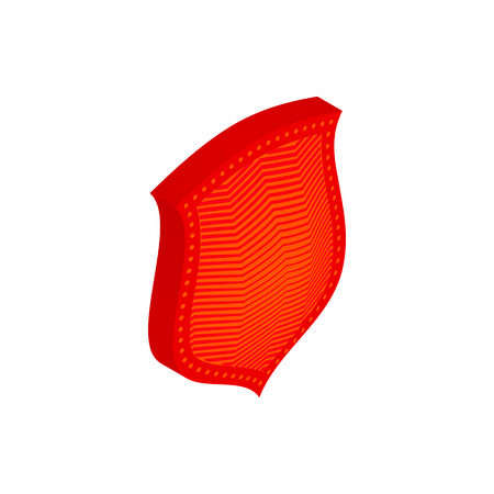 templar: Red shield icon in isometric 3d style isolated on white background