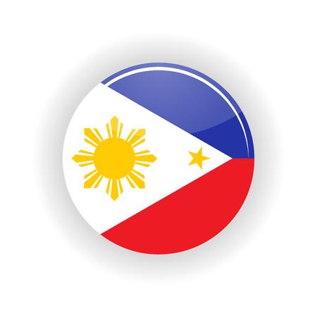 manila: Philippines icon circle isolated on white background. Manila icon vector illustration Illustration