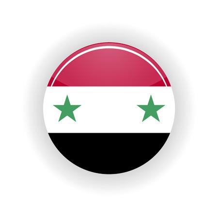 damascus: Syria icon circle isolated on white background. Damascus icon vector illustration