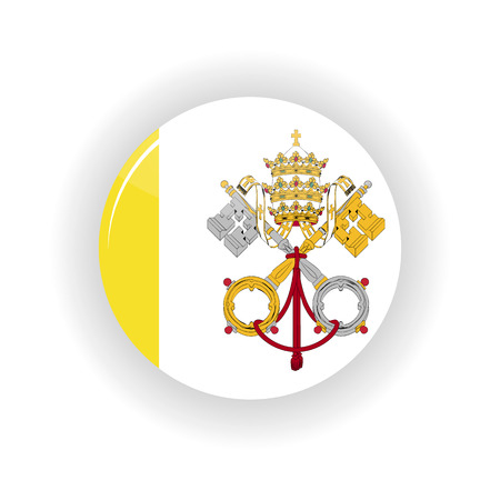 Vatican icon circle isolated on white background. Vatican icon vector illustration