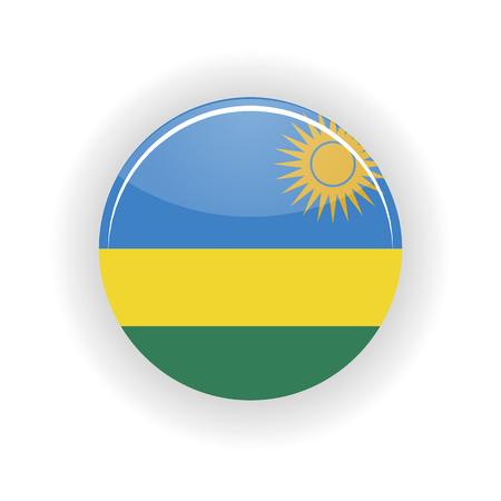 kigali: Rwanda icon circle isolated on white background. Kigali icon vector illustration