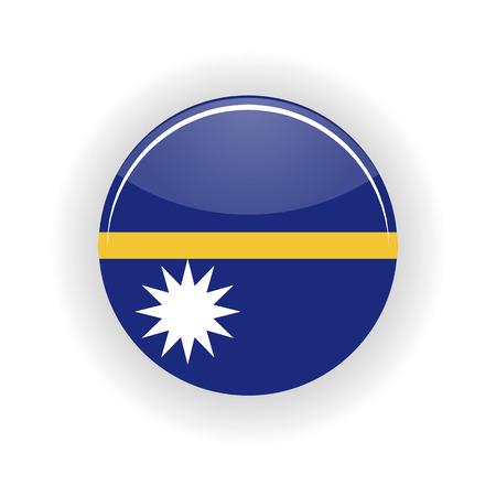 nauru: Nauru icon circle isolated on white background. Yaren icon vector illustration