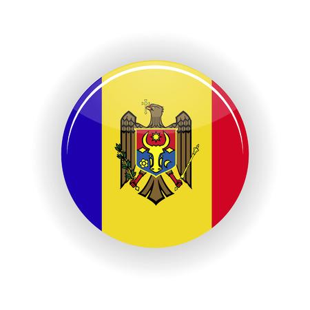 moldavia: Moldavia icon circle isolated on white background. Kishinev icon vector illustration Illustration