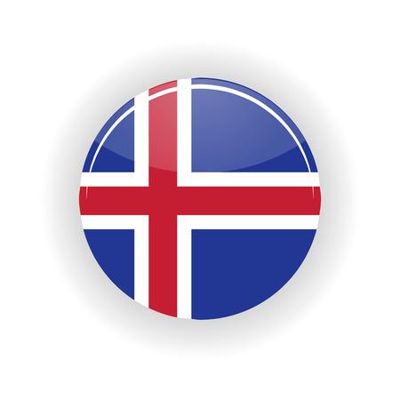 Iceland icon circle isolated on white background. Reykjavik icon vector illustration