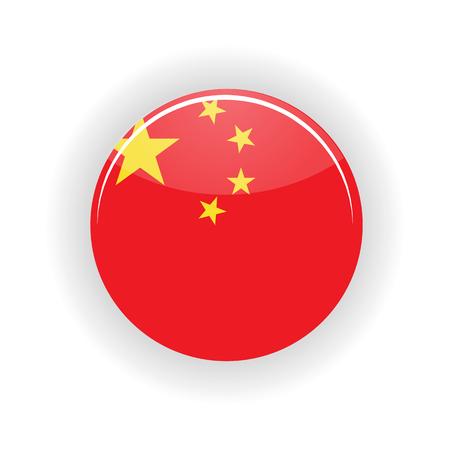 china icon: China icon circle isolated on white background. Peking icon vector illustration