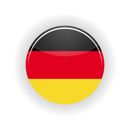 east berlin: Germany icon circle isolated on white background. Berlin icon vector illustration