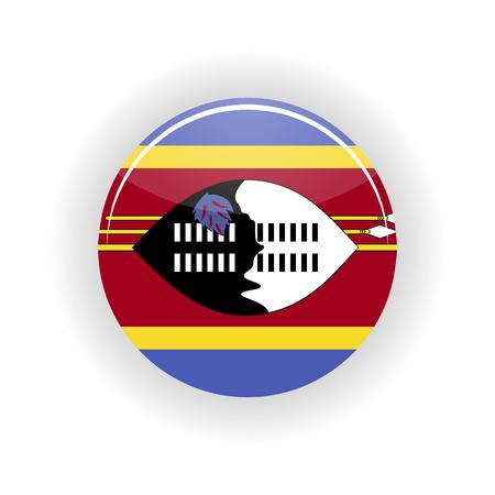 Swaziland icon circle isolated on white background. Mbabane icon vector illustration