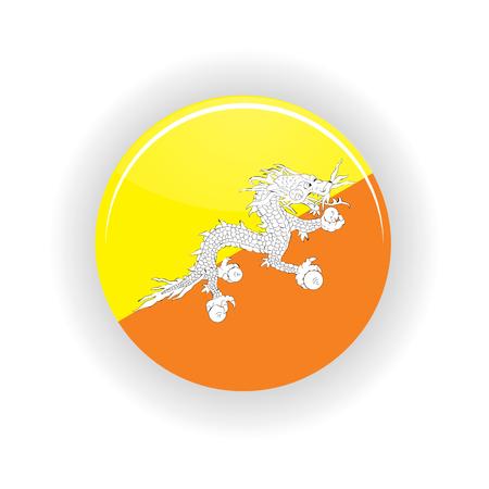 butane: Butane icon circle isolated on white background. Thimphu icon vector illustration