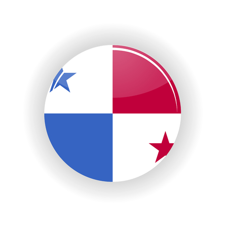 bandera de panama: Panamá icono del círculo aislado sobre fondo blanco. ilustración vectorial con Ipanama Vectores