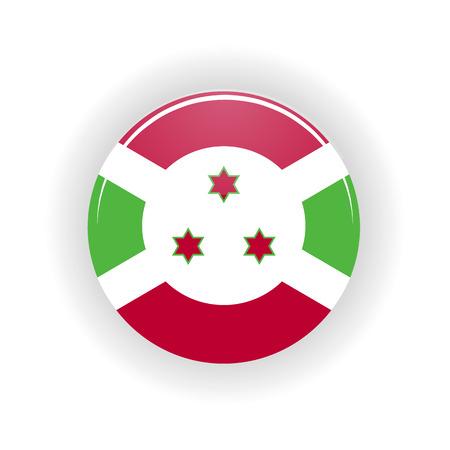 Burundi icon circle isolated on white background. Bujumbura icon vector illustration Illustration