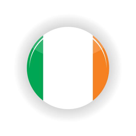 Ireland icon circle isolated on white background. Dublin icon vector illustration