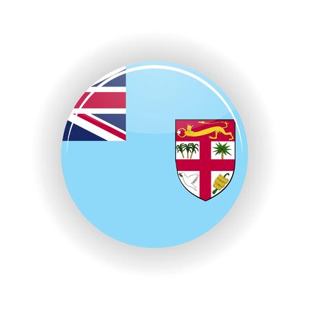 territory: Fiji icon circle isolated on white background. Suva icon vector illustration Illustration