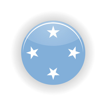 federated: Federated States of Micronesia icon circle isolated on white background. Palikir icon vector illustration