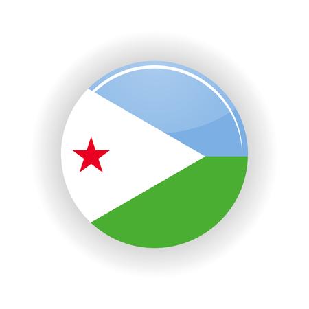 Djibouti icon circle isolated on white background. Djibouti icon vector illustration Illustration